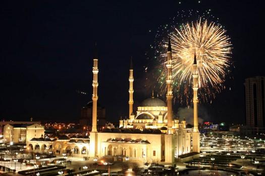 New Year celebrations in Grozny