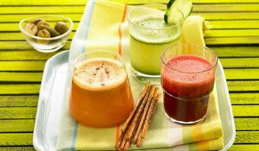 Carrot juice,tomato juice and cucumber juice