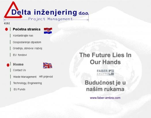 Službena stranica tvrtke Delta inženjering d.o.o.  na dan 21. srpnja 2015.