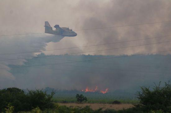 Zbog požara za sav promet zatvorena dionica autoceste A1 Između čvora Zadar II i Pirovac