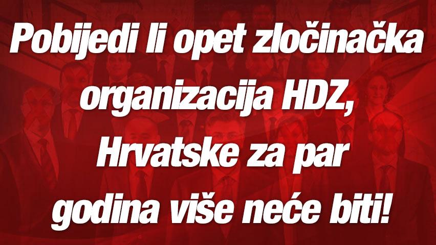 AKO POBJEDI HDZ: Hrvatske za par godina više neće biti!