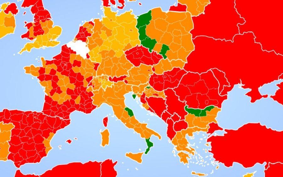 BORBA PROTIV KORONE Ova karta pokazuje da su dvije hrvatske regije među najboljima u Europi